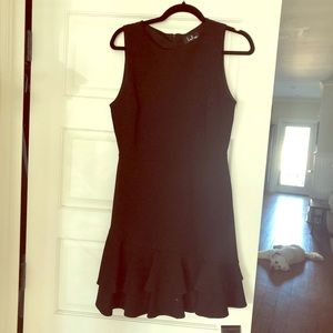 Black dress with double layer ruffle, size medium